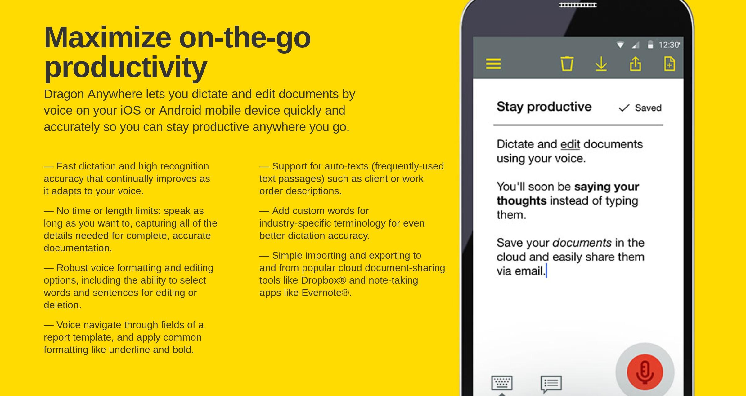 content management app with voice input
