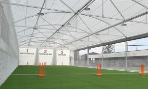 Covered wicket inside